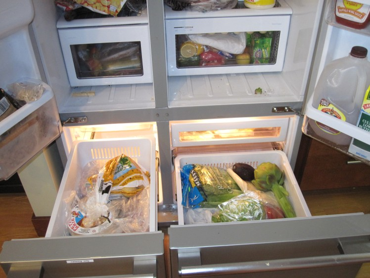 Over stuffed fridge