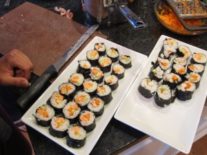 First round at making sushi