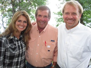 Lisa Erickson, Ron Schara, and Mark Erickson