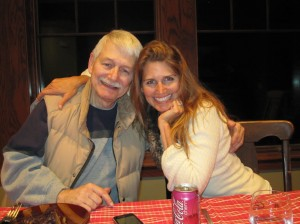 Lisa Erickson with her dad Jerry Miller