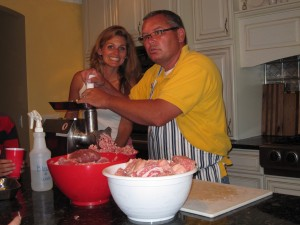 Grinding meat with Lisa Erickson